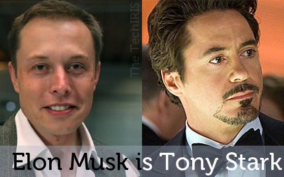 elon musk is tony stark ( iron man )