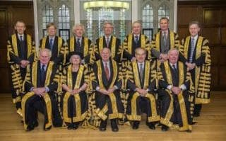 Comment: The justices in their full ceremonial garb